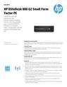 AMS HP EliteDesk 800 G2 SFF Datasheet