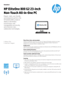"AMS HP EliteOne 800 G2 AIO 23"" Non-Touch Datasheet"