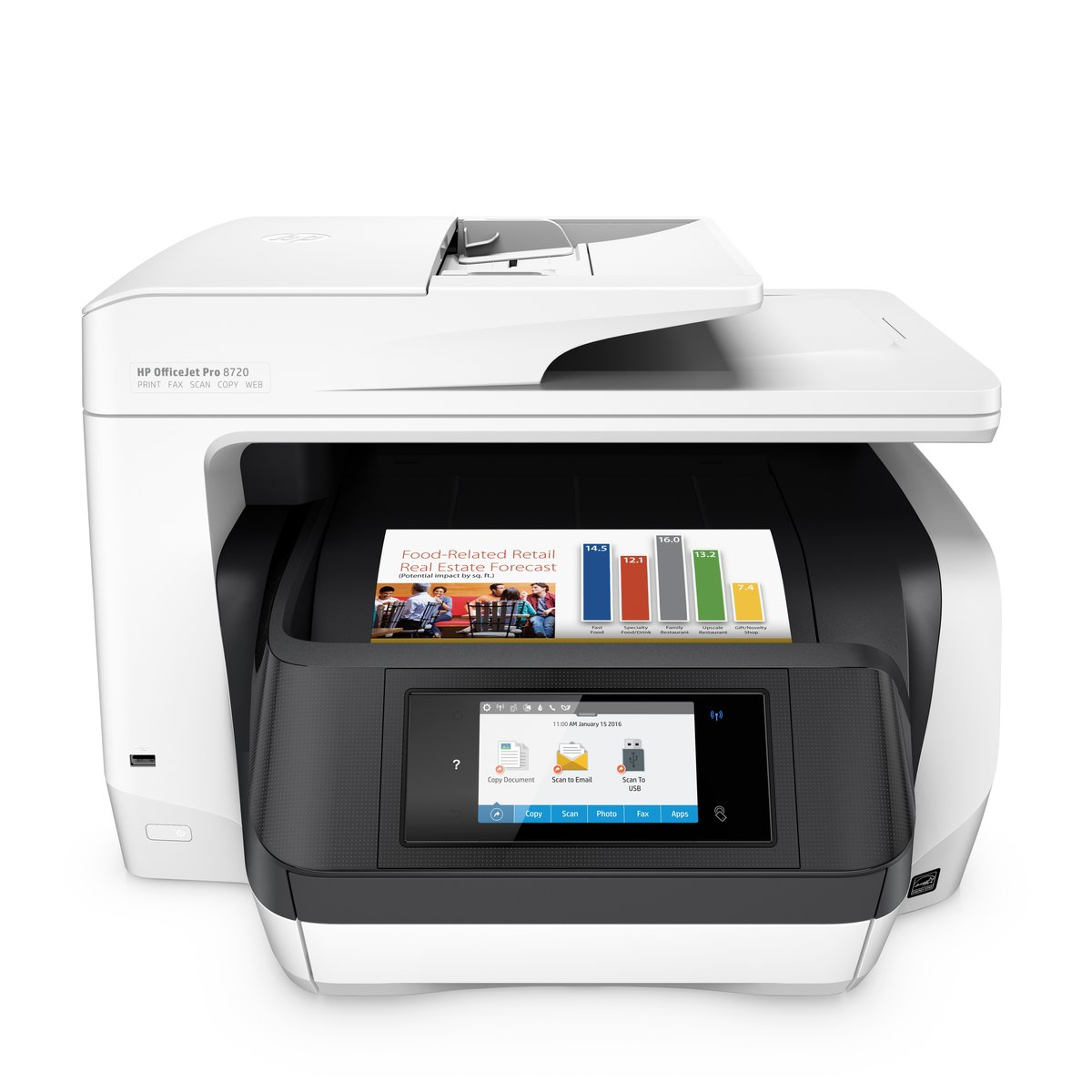 93659d8b HP OfficeJet Pro 8720 All-in-One Wireless Printer with Mobile Printing,  Instant Ink ready (M9L75A) - Newegg.com