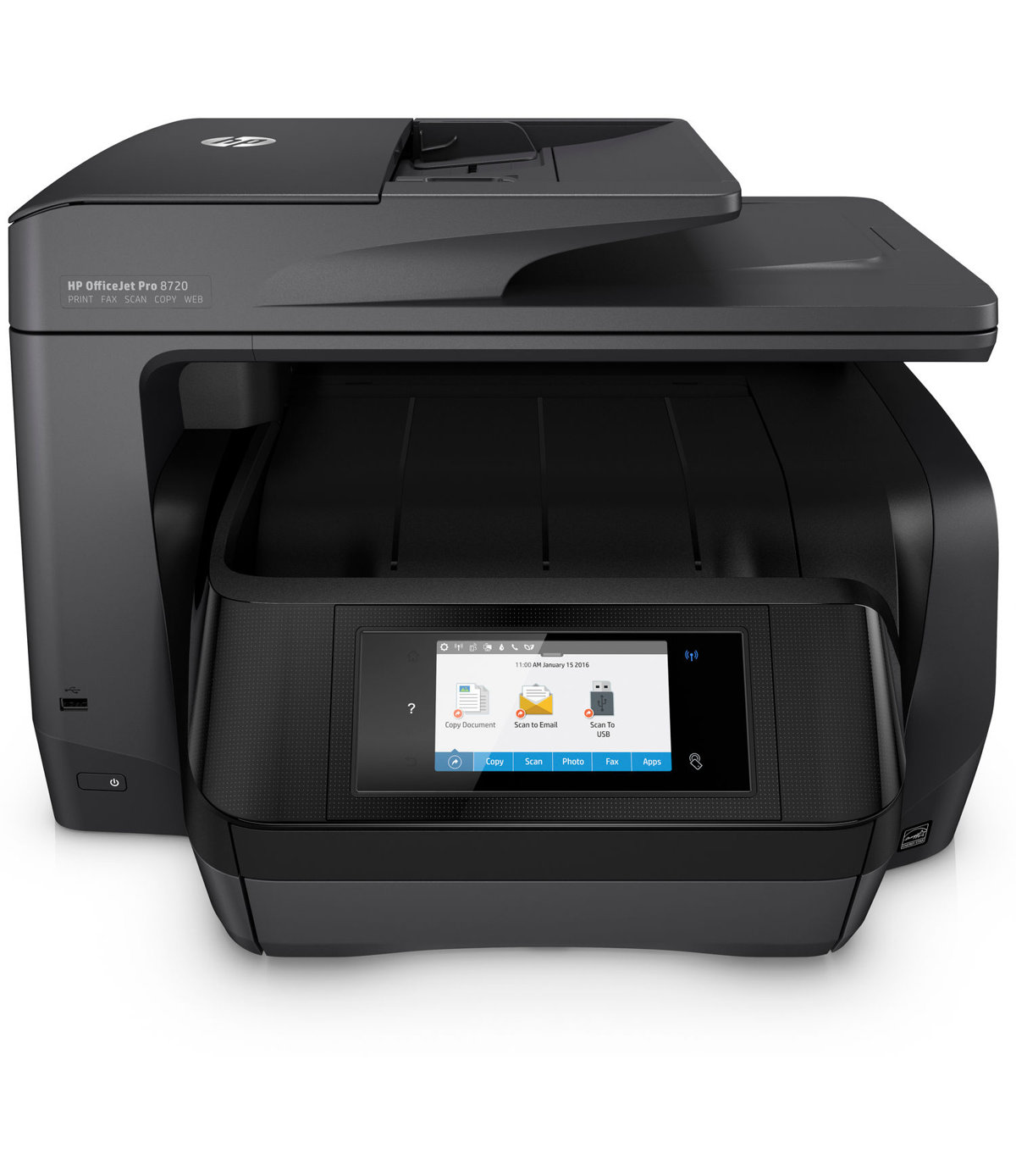 Hp officejet pro 8720 wireless all in one printer with mobile hp officejet pro 8720 wireless all in one printer with mobile printing black m9l74a by office depot officemax reheart Choice Image