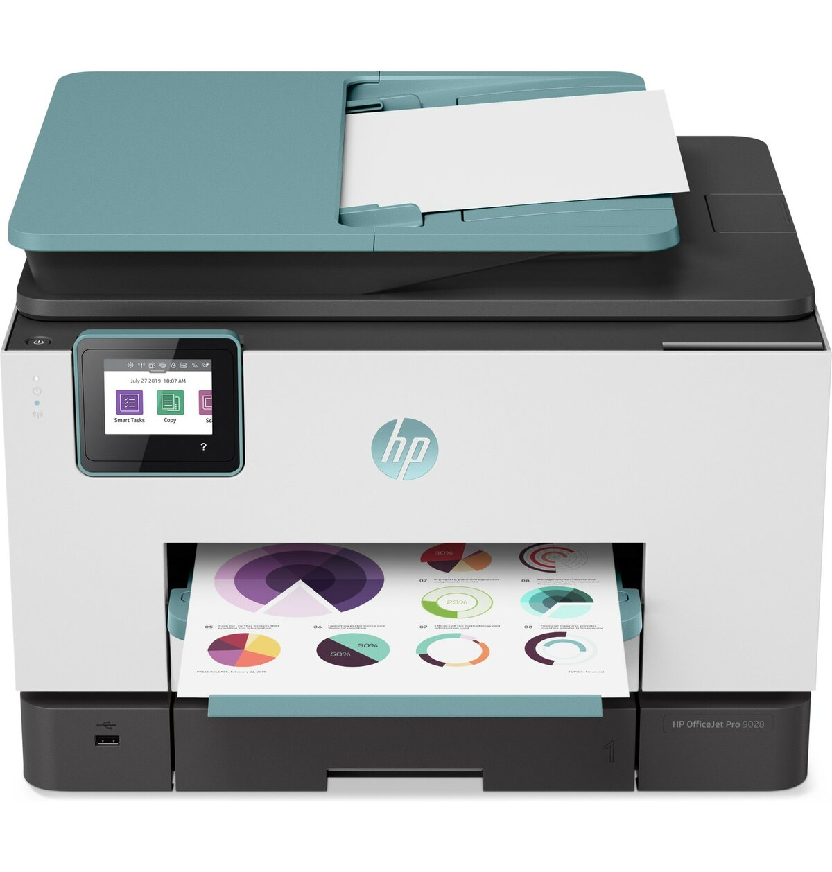 HP Officejet Pro 9028 Inkjet AiO MFC Printer (Oasis Blue)