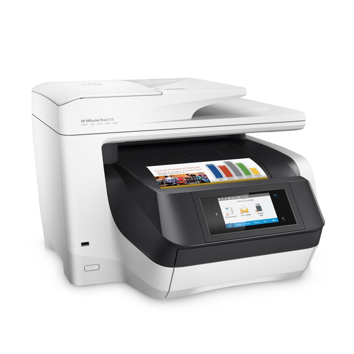 Office depot color printing costs - Hp Officejet Pro 8720 Wireless All In One Printer With Mobile Printing White M9l75a By Office Depot Officemax