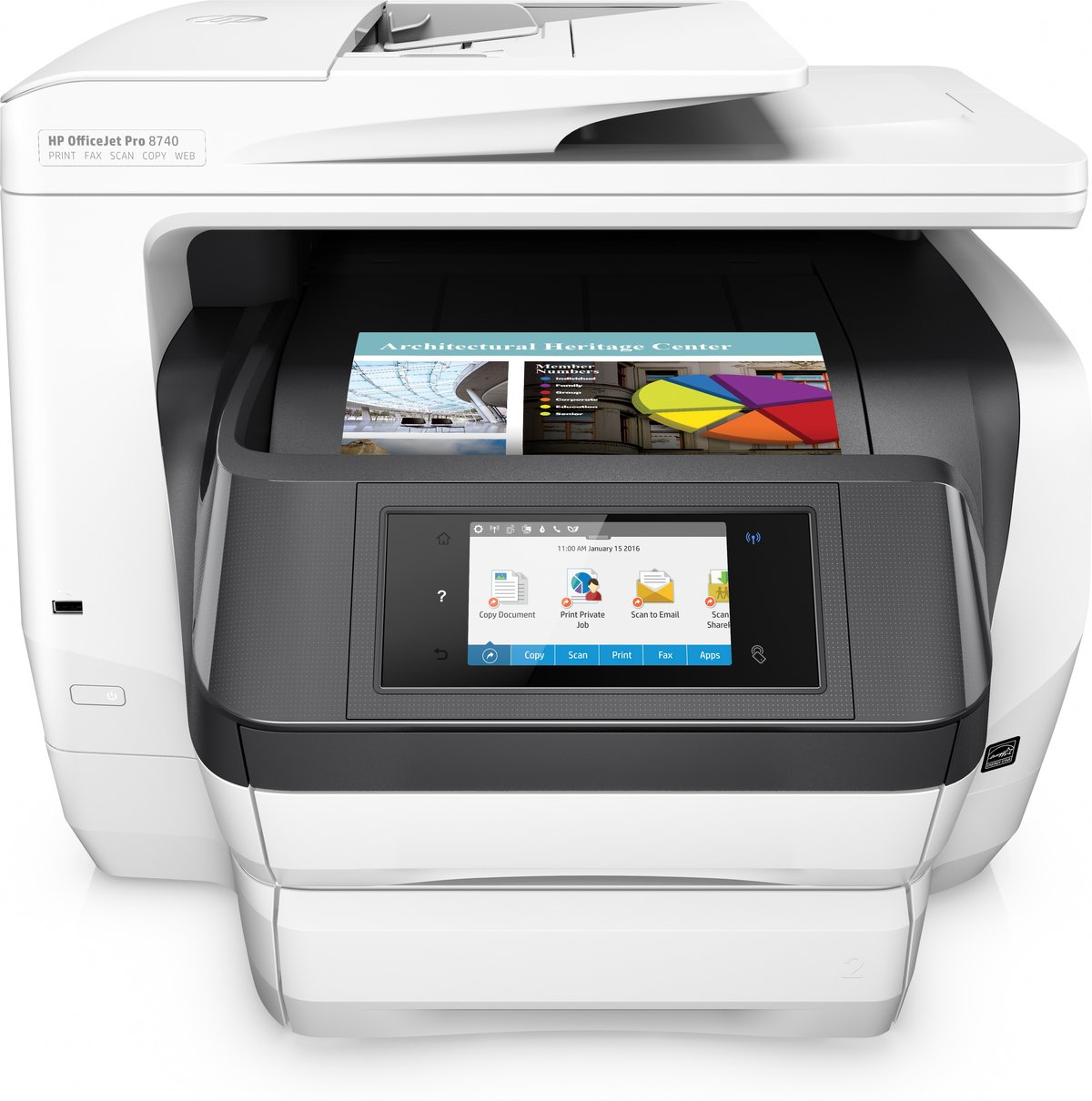 HP OfficeJet Pro 8740 All in One Wireless Printer with Mobile Printing  K7S42A by Office Depot & OfficeMax