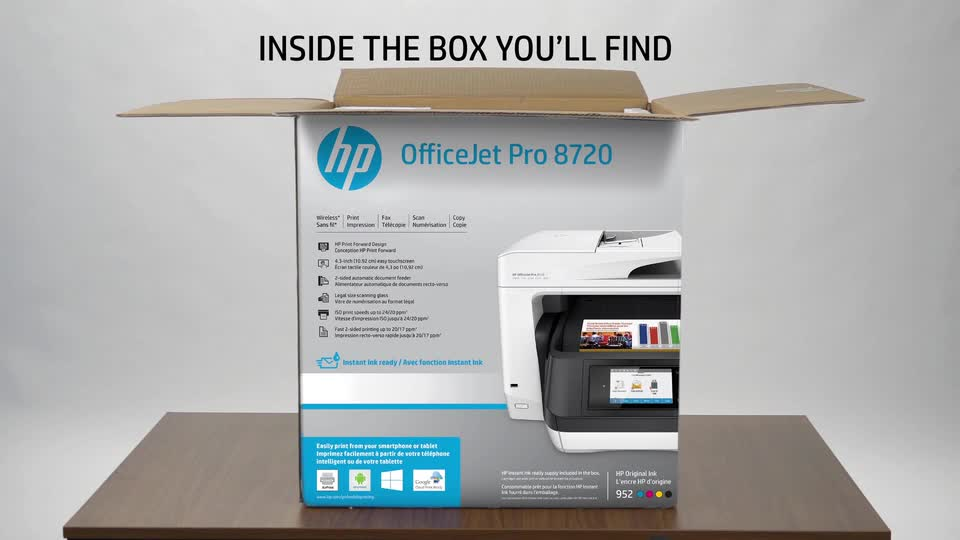 Used - Like New: HP OfficeJet Pro 8720 All-in-One Wireless Printer with  Mobile Printing, Instant Ink ready (M9L75A) - Newegg com