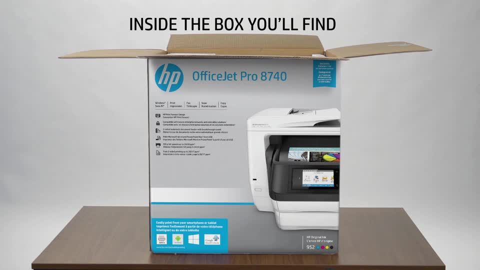 HP OfficeJet Pro 8740 Wireless All-in-One Thermal Inkjet Printer, Up to 24  ppm Black/Up to 20 ppm Color, Up to 1200x1200 dpi Black/Up to 2400x1200 dpi