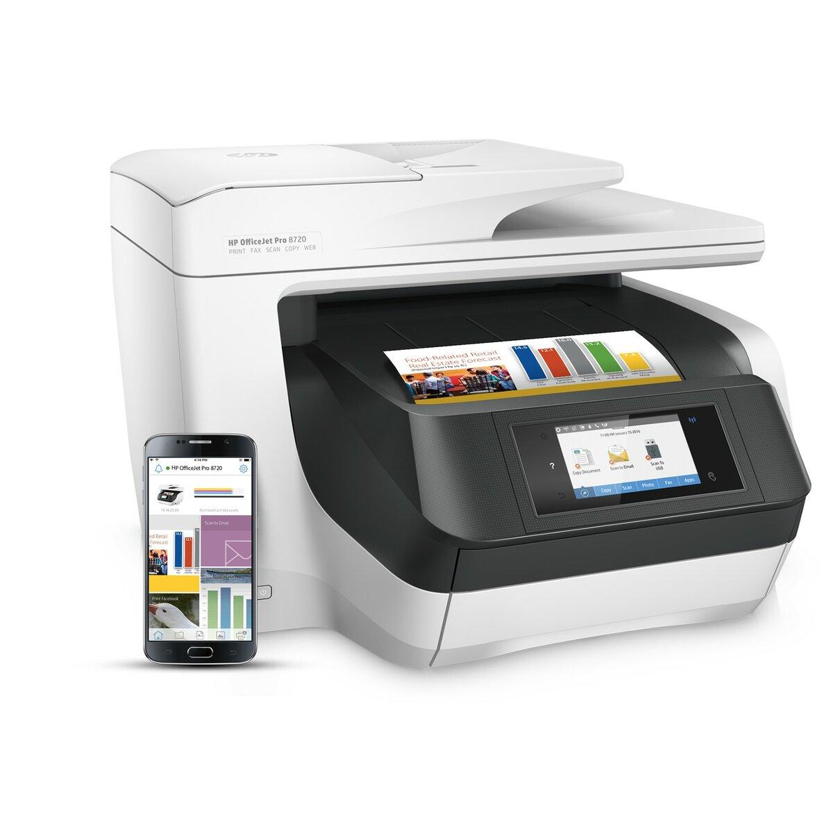 Hp Officejet Pro 8740 All In One Inkjet Printer Staples