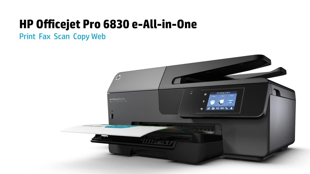 HP Officejet Pro 6830 e-All-in-One Inkjet Printer, Copy/Fax/Print/Scan