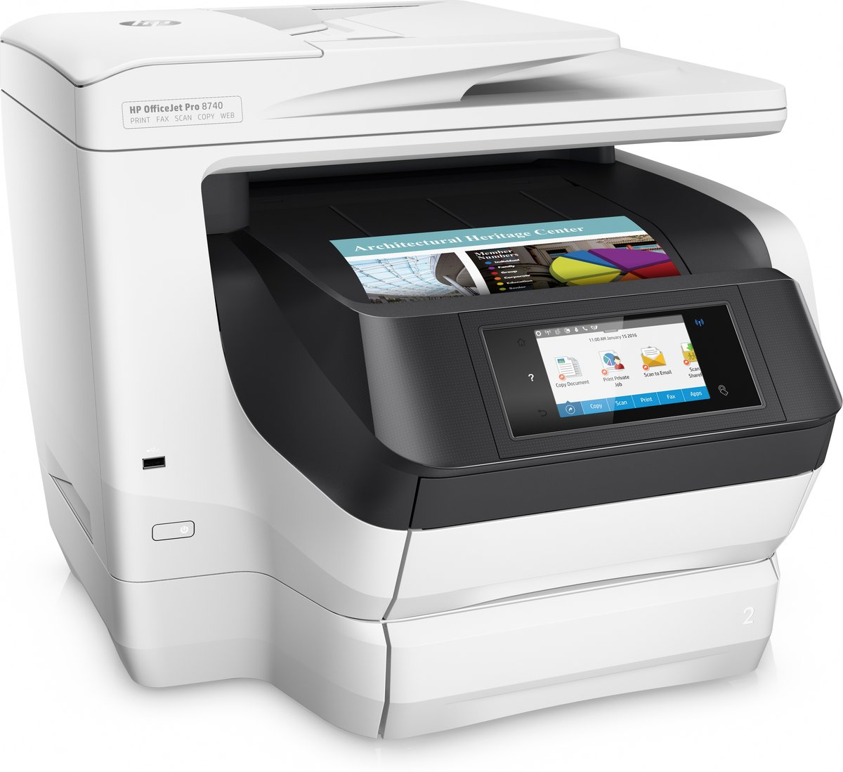 hp officejet pro 8740 all in one wireless printer with mobile