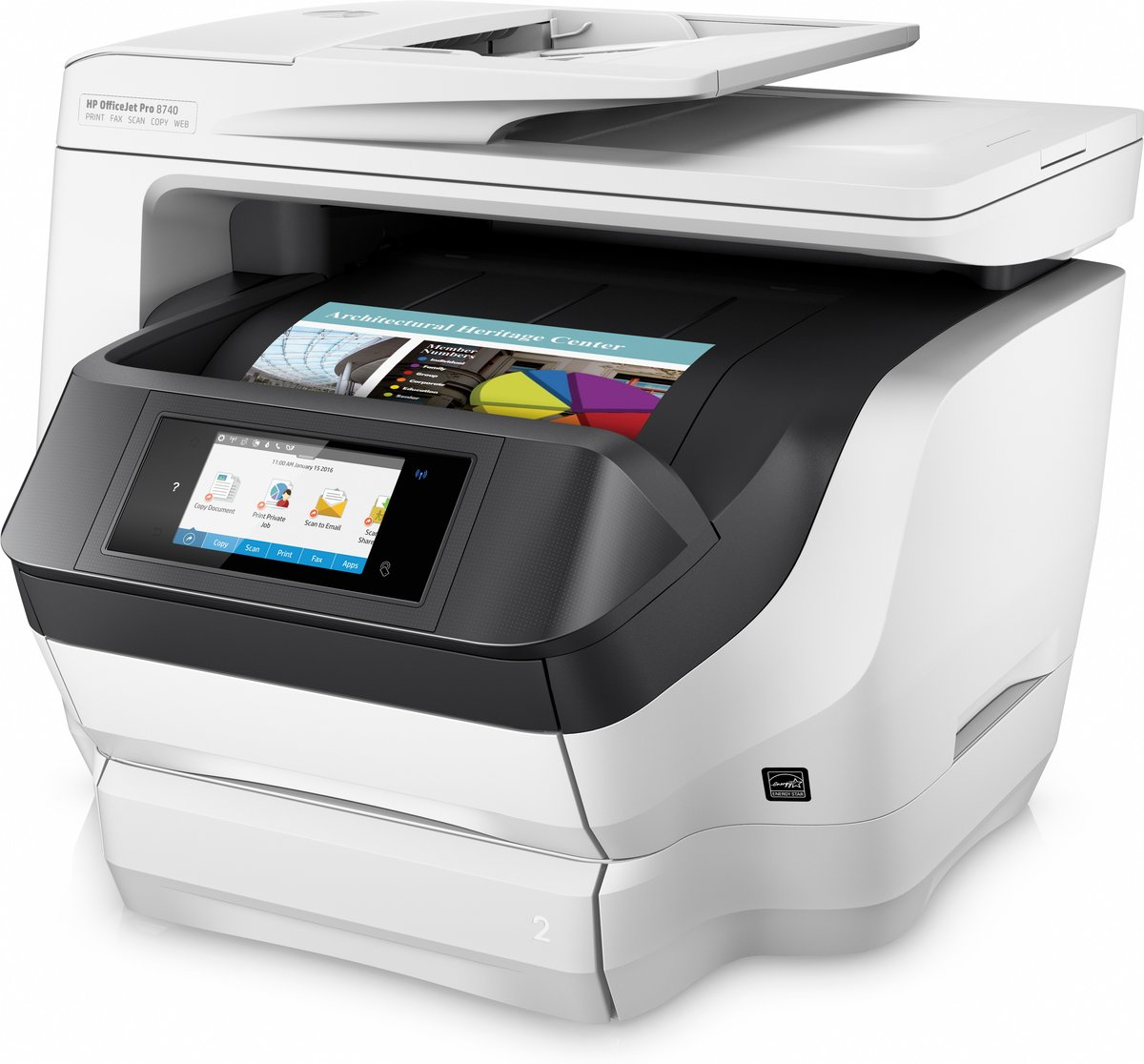 Office depot color printing costs - Hp Officejet Pro 8740 All In One Wireless Printer With Mobile Printing K7s42a By Office Depot Officemax
