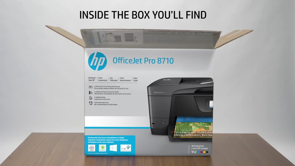 HP OfficeJet Pro 8710 All-in-One Wireless Printer with Mobile Printing,  Instant Ink ready (M9L66A#B1H) - Newegg com