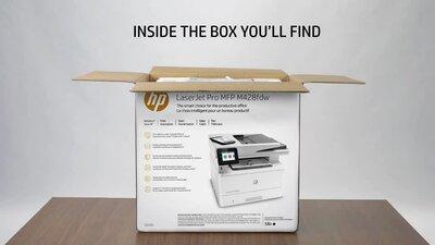 diapositive 1 sur 5,zoom avant, imprimante multifonction hp laserjet pro m428fdw