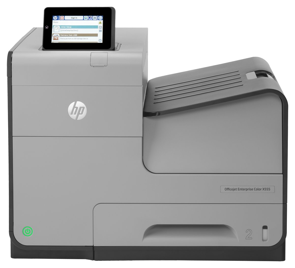 HP Officejet X555dn Inkjet Printer Color 2400 x 1200 dpi Print ...