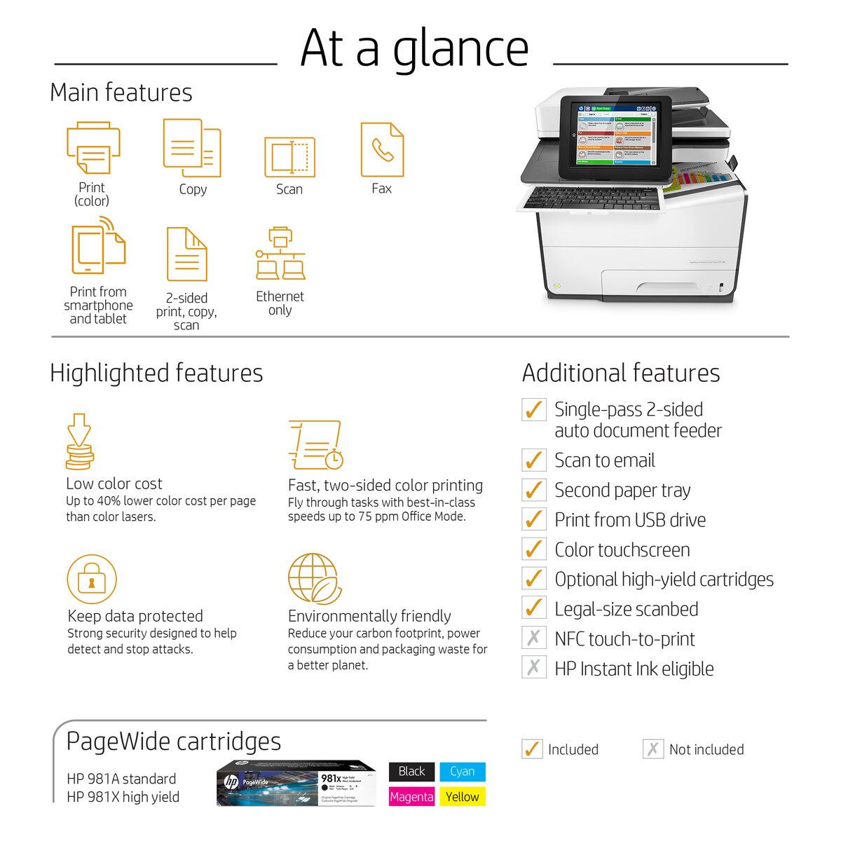 PROVANTAGE: HP G1W41A#BGJ HP PageWide Enterprise Color Flow MFP 586z