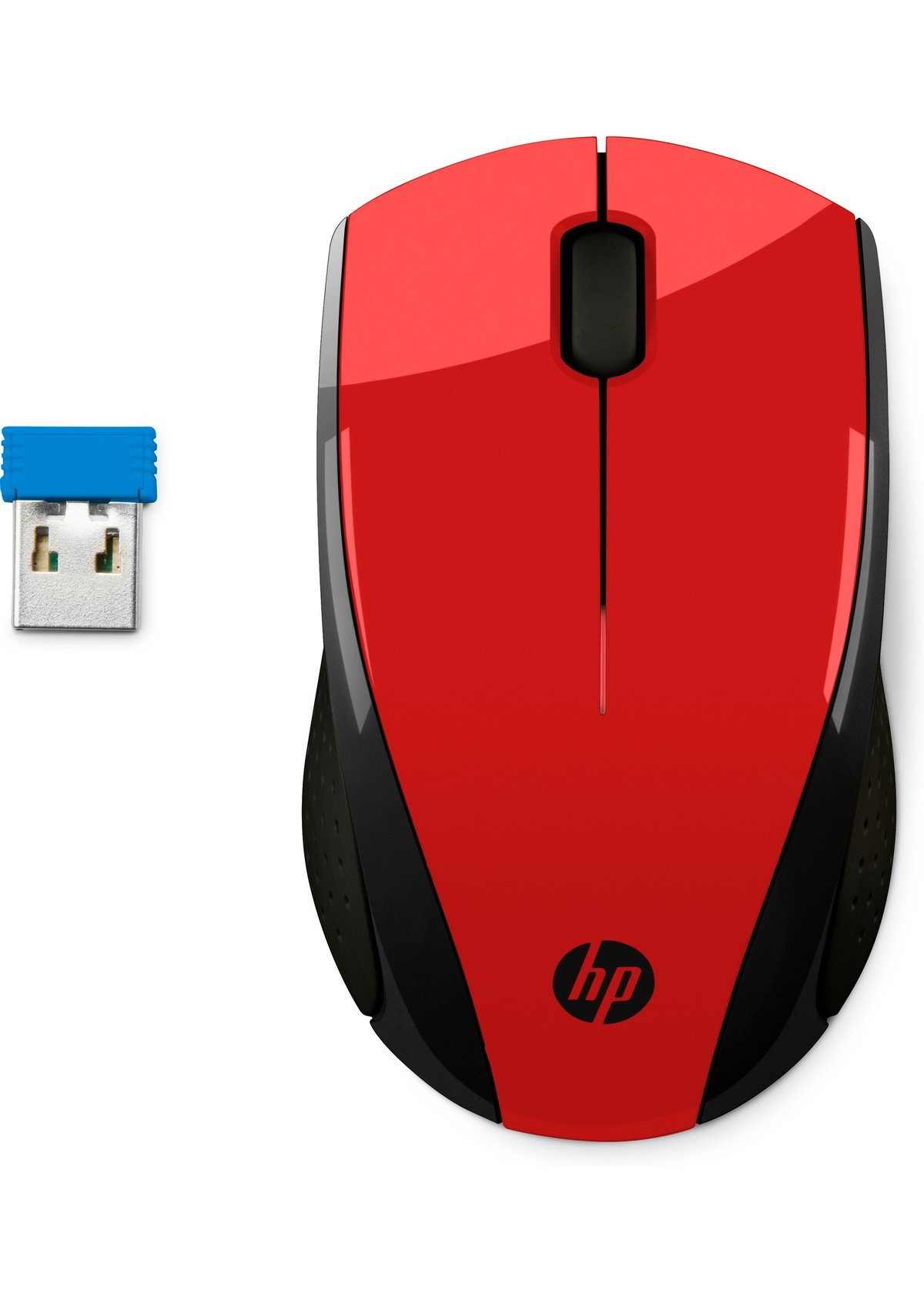 HP 2HW69AA#ABL Wireless Mouse X3000 - Optical - Red, Black - USB - Scroll  Wheel