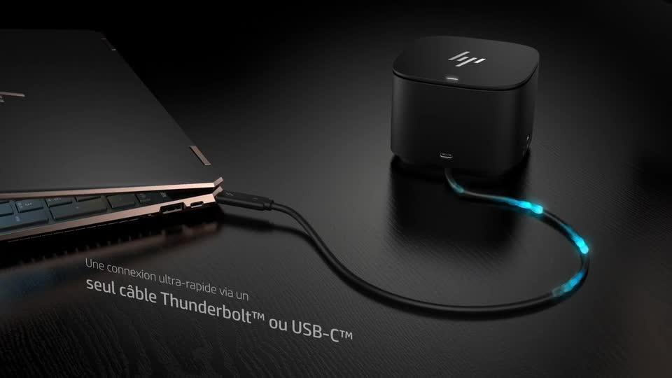 diapositive 1 sur 2,agrandir l'image, station d'accueil hp thunderbolt 120w avec adaptateur hdmi