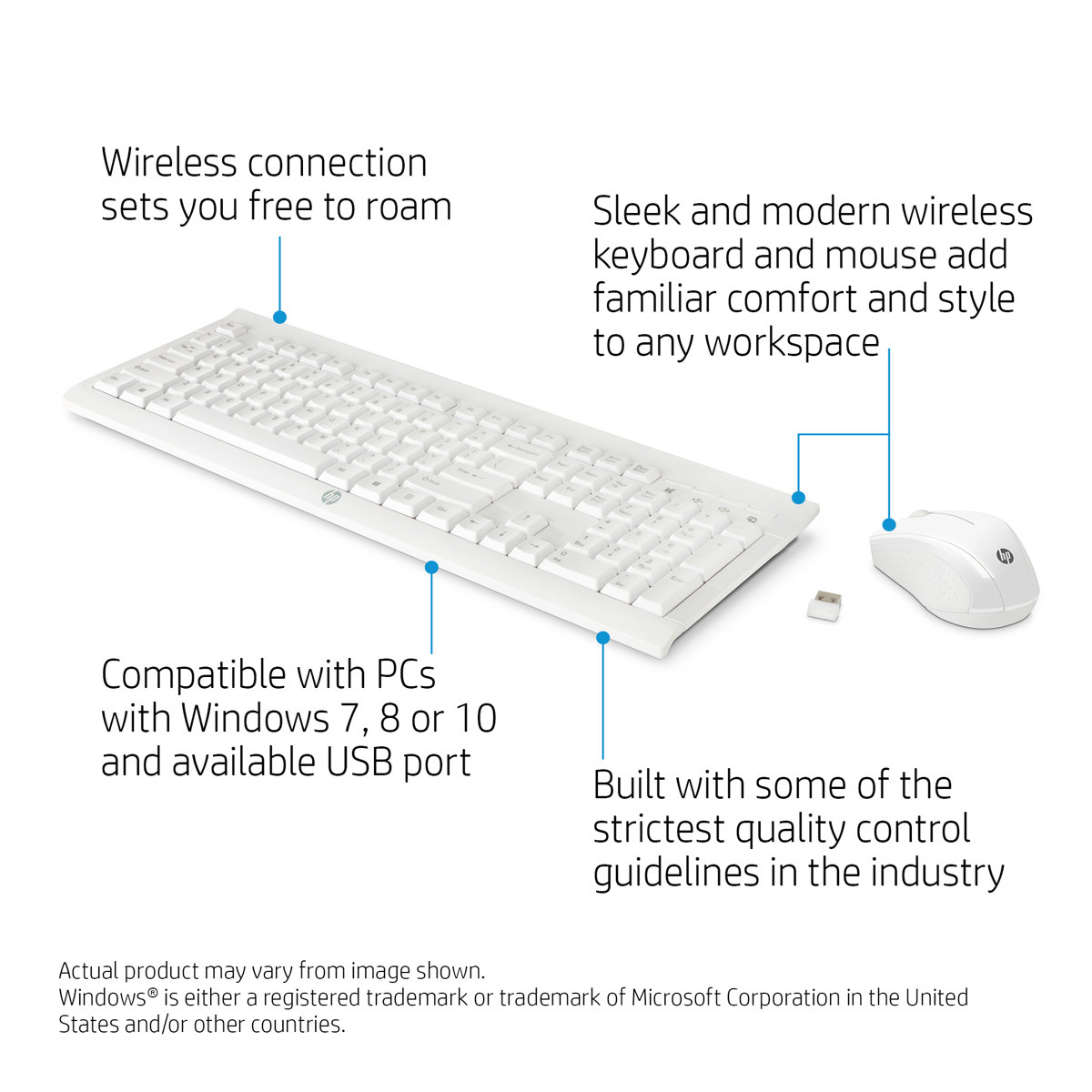 HP C2710 Combo Keyboard + Mouse - Qwerty intl