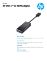 HP USB-C™ to HDMI Adapter