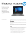 AMS HP EliteBook Folio G1 Notebook PC Datasheet