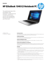 AMS HP EliteBook 1040 G3 Notebook PC Datasheet