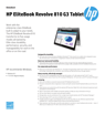 AMS HP EliteBook Revolve 810 G3 Tablet Datasheet