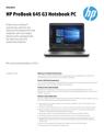 AMS HP ProBook 645 G3 Datasheet