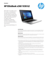 AMS HP EliteBook x360 1030 G2 Datasheet