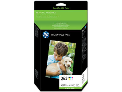 HP 363 Series Photo Value Pack-150 sht/10 x 15 cm