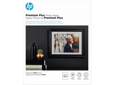 HP Premium Plus Soft-gloss Photo Paper-25 sht/Letter/8.5 x 11 in