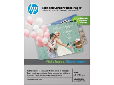 HP Rounded Corner Photo Paper/15 sht/5 x 7 in
