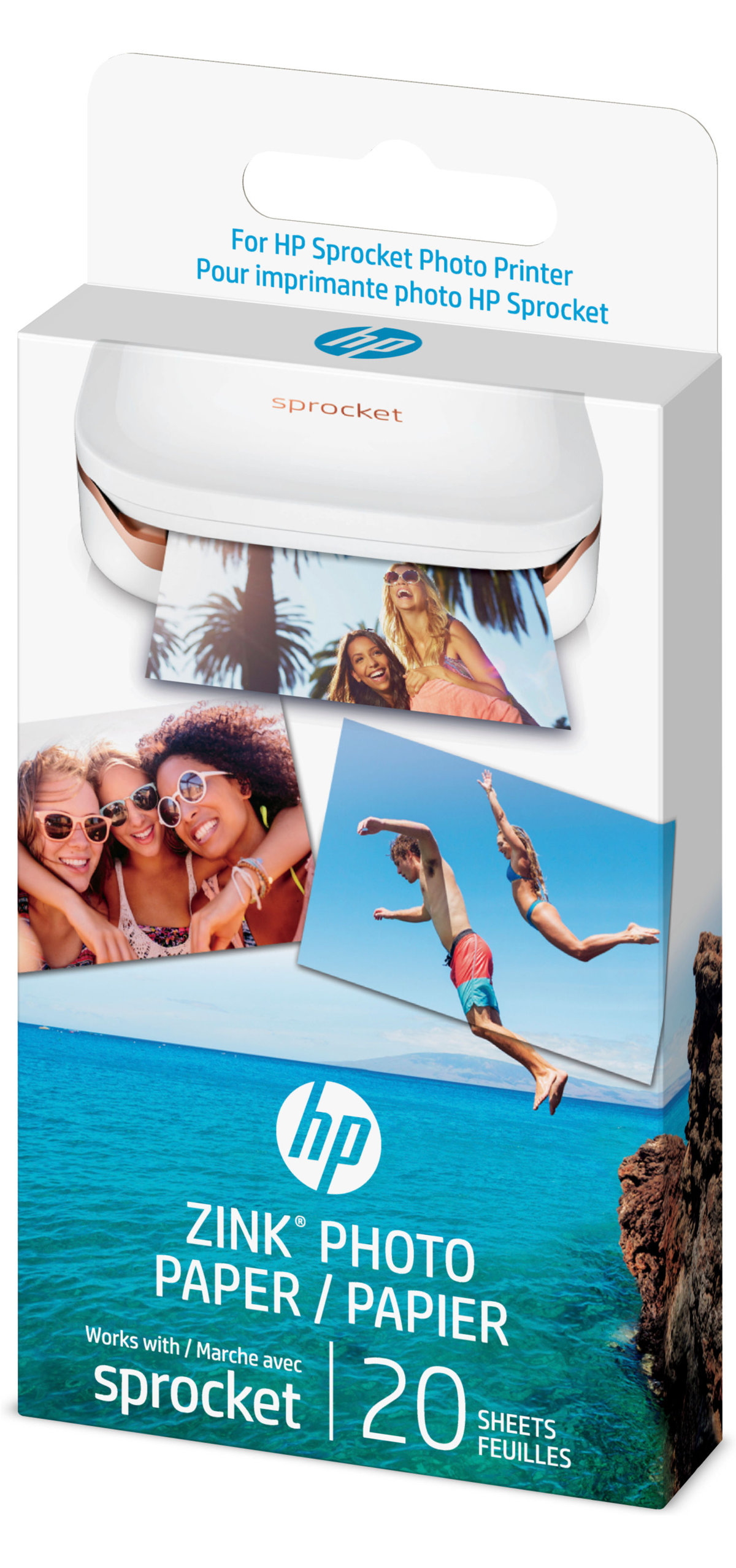 hp zink photo paper for hp sprocket photo printer 1ah01a 20