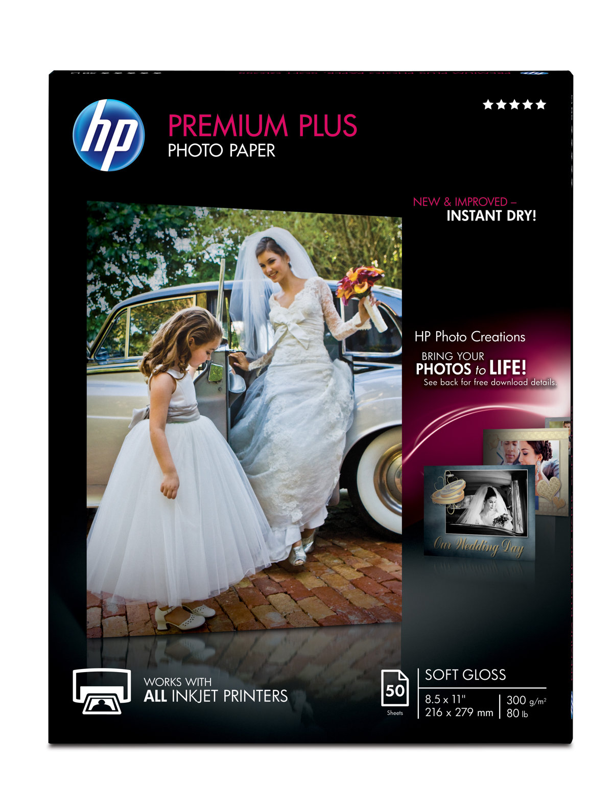 Hp Premium Plus Soft Gloss Photo Paper 8 12 X 11 Pack Of 50 Sheets