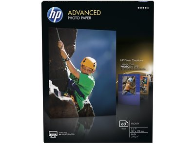 HP Advanced Glossy Photo Paper-60 sht/5 x 7 in