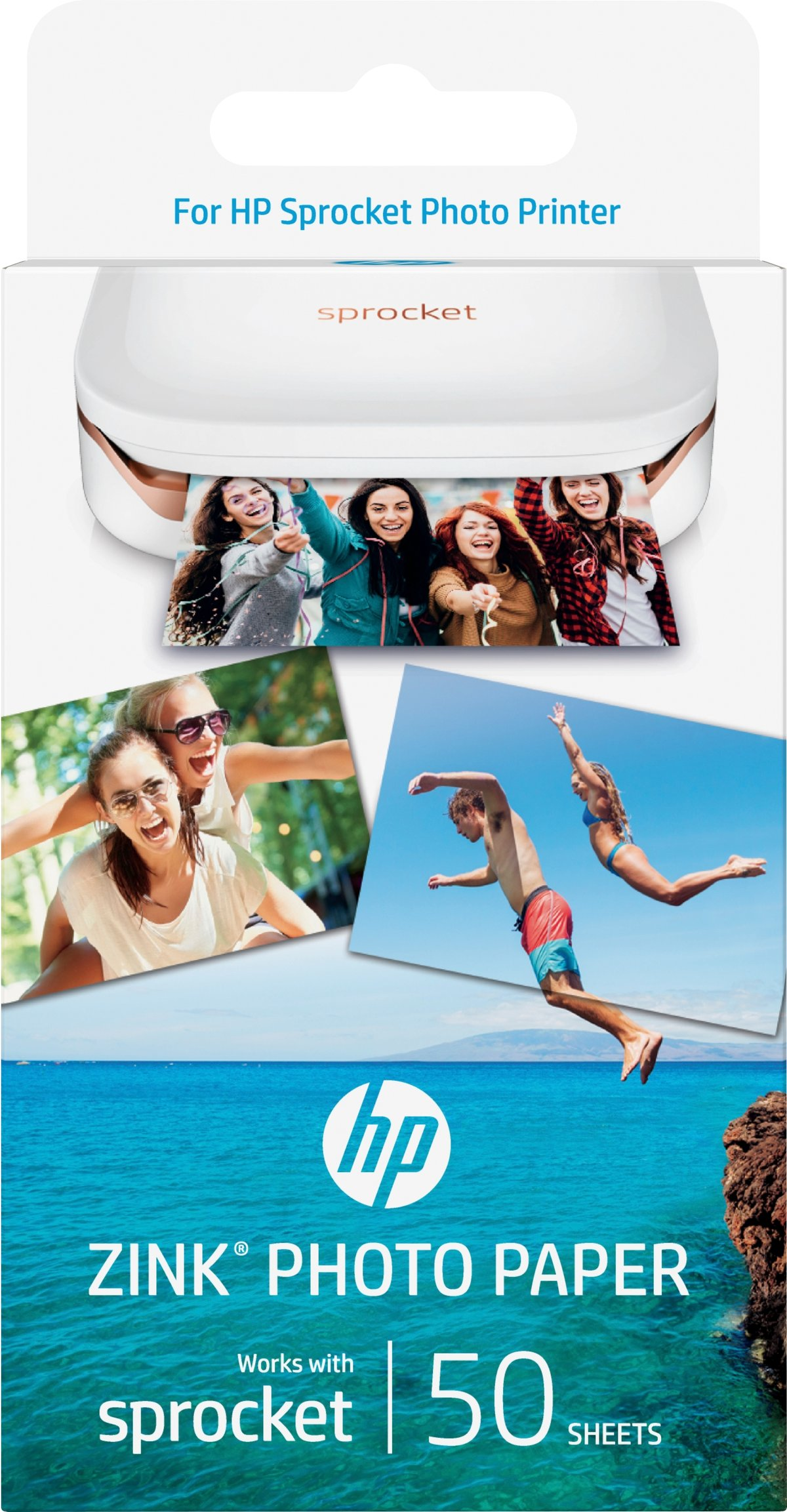 buy hp sprocket zink sticky backed 2x3 50 sheet photo paper