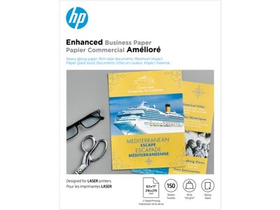 HP Enhanced Laser Glossy FSC Paper 150 gsm-150 sht/Letter/8.5 x 11 in