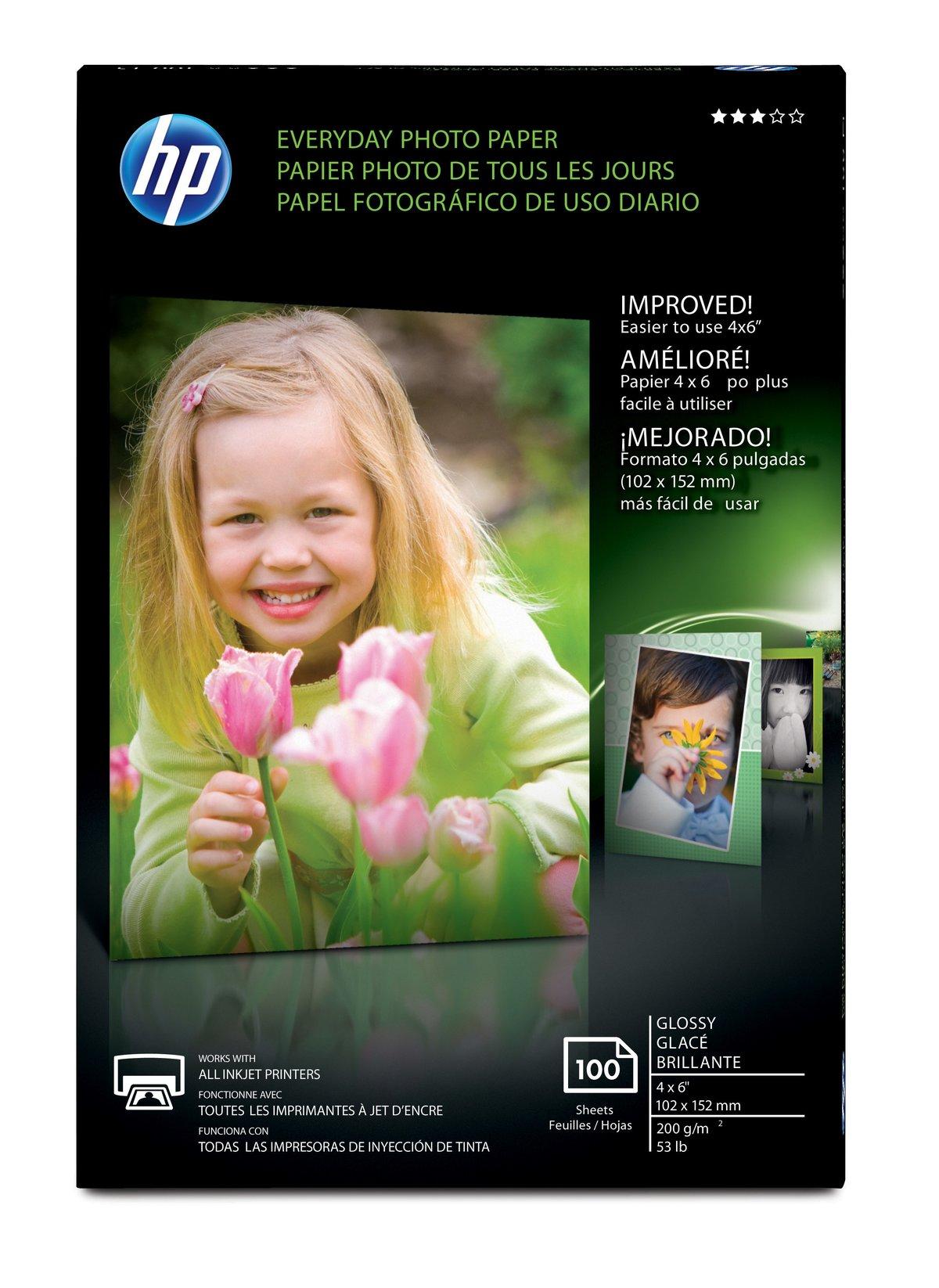 PAPEL FOTOGRAFICO HP EVERYDAY (100 HOJAS, 4X6) | Papel Fotográfico ...