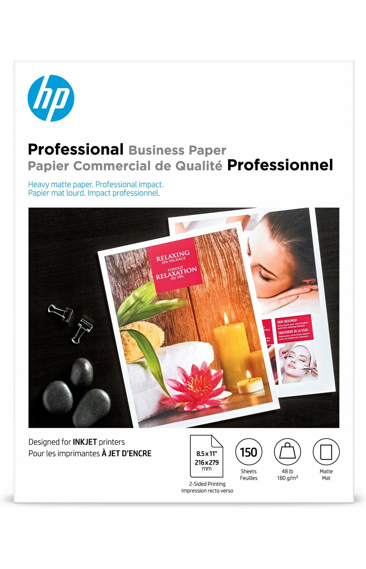 50 Sheets 8.5x11 HP Brochure Paper Matte