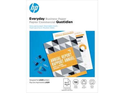 HP Laser Glossy Brochure Paper 120 gsm-150 sht/Letter 8.5 x 11 in