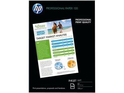 HP Professional Inkjet Matte Paper-200 sht/A4/210 x 297 mm