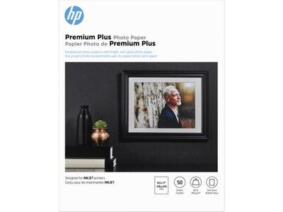 HP Premium Plus Soft-gloss Photo Paper-50 sht/Letter/8.5 x 11 in