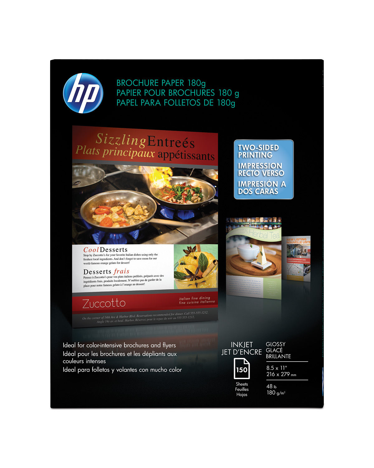 slide 1 of 1 show larger image hp inkjet glossy brochure paper 180 gsm