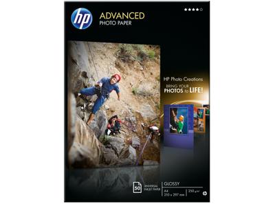 HP Advanced Glossy Photo Paper-50 sht/A4/210 x 297 mm