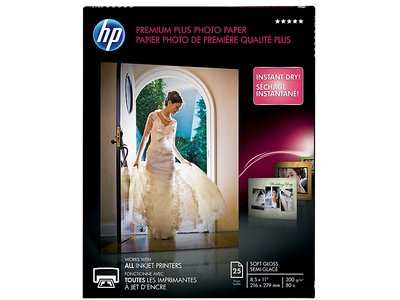 HP Premium Plus Soft-gloss Photo Paper-25 sht/Letter/8.5 x 11 in