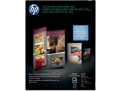 Hp Professional Tri Fold Brochure Paper Glossy 8 12 X 11 48 Lb Pack