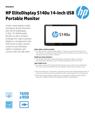 HP EliteDisplay S140u 14-inch USB Portable Monitor v2