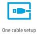 Configuration à un câble