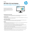 HP P204 19.5-inch Monitor
