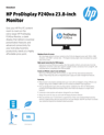 HP ProDisplay P240va 23.8-inch monitor(English(AMS))