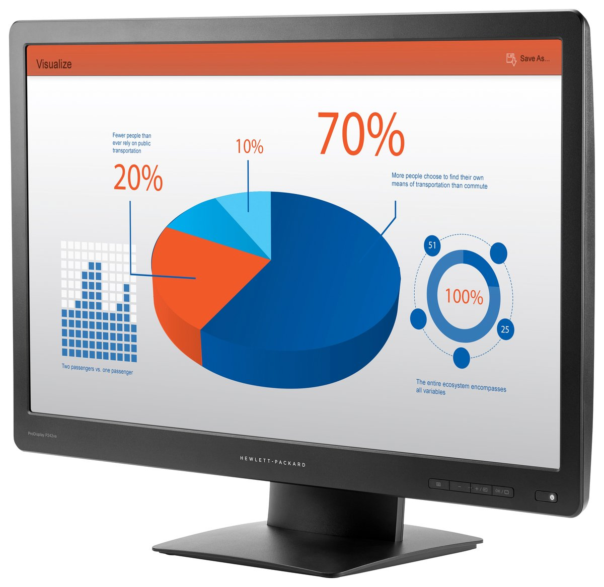 "HP Smart Buy ProDisplay P242va 24"" Widescreen 8ms 1920X1080 VGA,DP,HDMI -  Newegg.com"