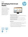 HP ProDisplay P232 23-inch Monitor Datasheet