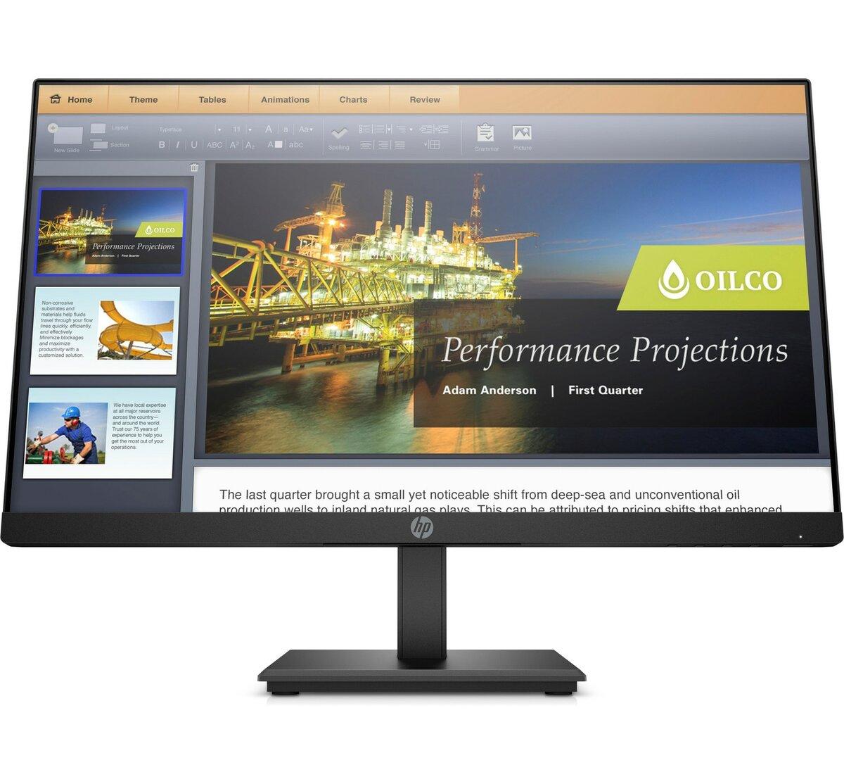 diapositiva 1 de 10,aumentar tamaño, monitor hp p224 de 21,5 pulgadas